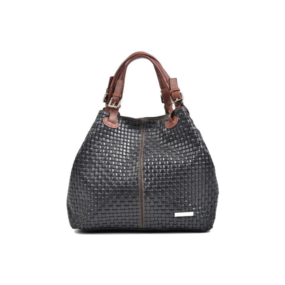 Černá kožená kabelka Isabella Rhea Renna Nero 46f50530e1