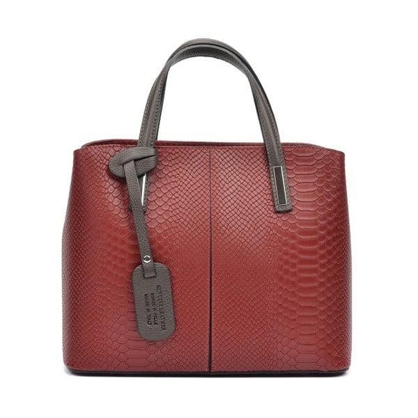 Tmavě červená kožená kabelka Roberta M Lucy