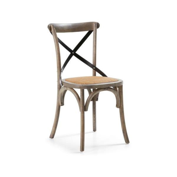 Židle Silena, šedá/přírodní