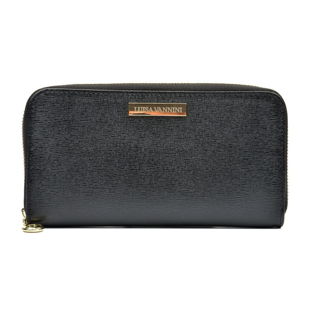 Černá dámská kožená peněženka Luisa Vannini Grunto
