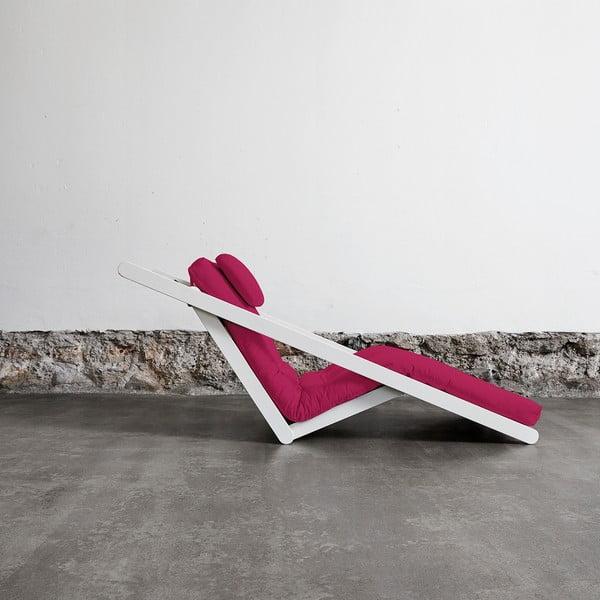 Fotoliu Karup Figo, White/Pink, 70 cm