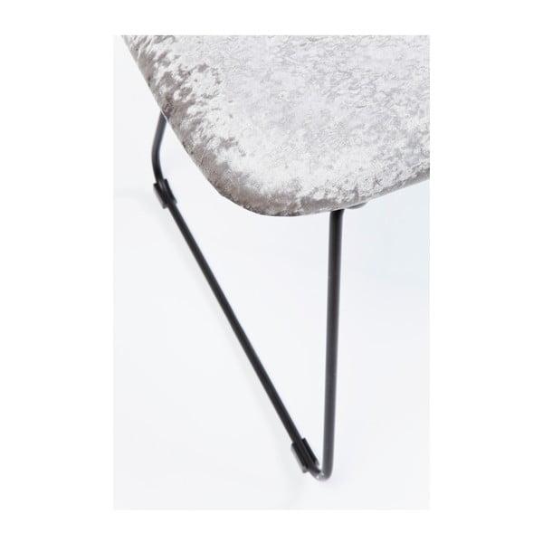 Šedá jídelní židle s ocelovou konstrukcí Kare Design Malmö