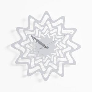 Nástěnné hodiny Flux, bílé