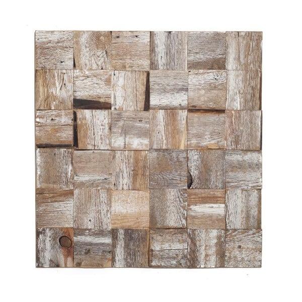 Nástěnná dekorace Wooden White, 60x60 cm
