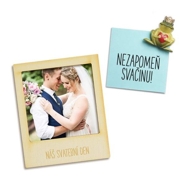 Magnetický fotorámeček Náš svatební den