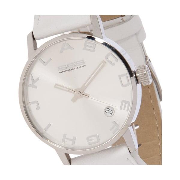 Dámské hodinky Alphabet Lady Leather White