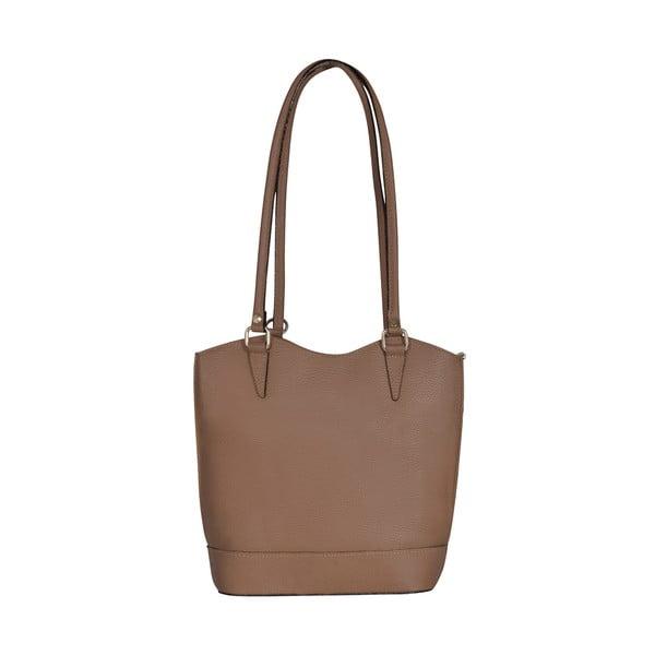 Kožená kabelka/batoh Jamie, béžová