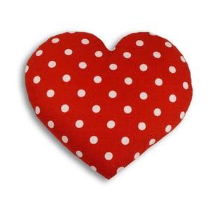 Nahřívací polštářek Srdce 22 cm, puntíkovaný
