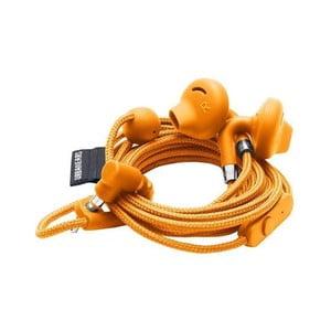 Oranžová sluchátka do uší s mikrofonem Urbanears SUMPAN Bonfire Orange