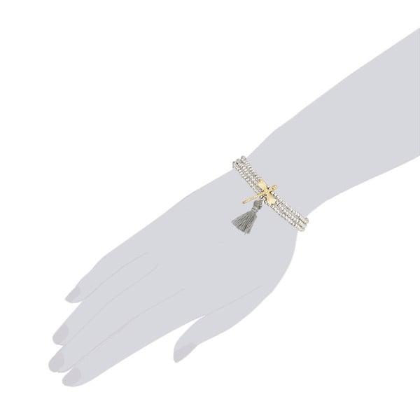 Šedý dámský náramek Tassioni Dragonfly