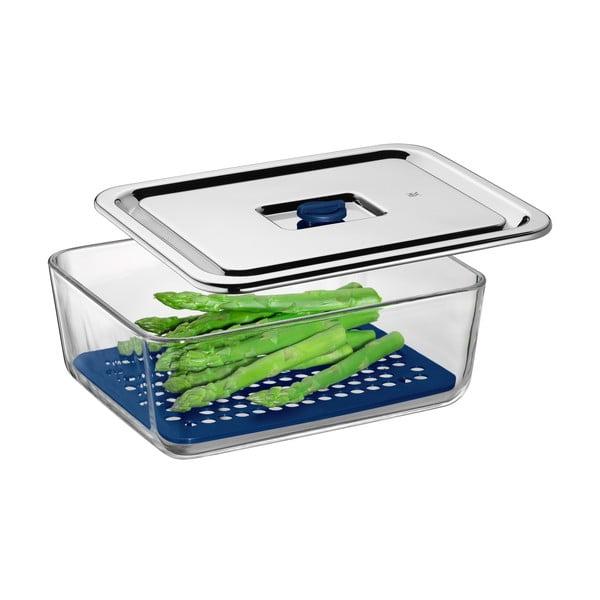 Cromargan® Serve üvegtál csepegtető ráccsal, 26 x 21 cm - WMF