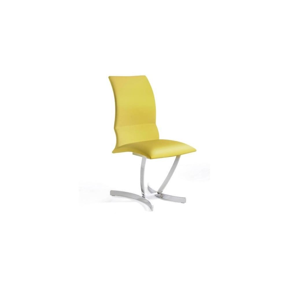 Žlutá jídelní židle Ángel Cerdá Hugo
