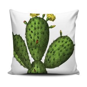 Zelenobílý polštář Home de Bleu Cactus, 43x43cm