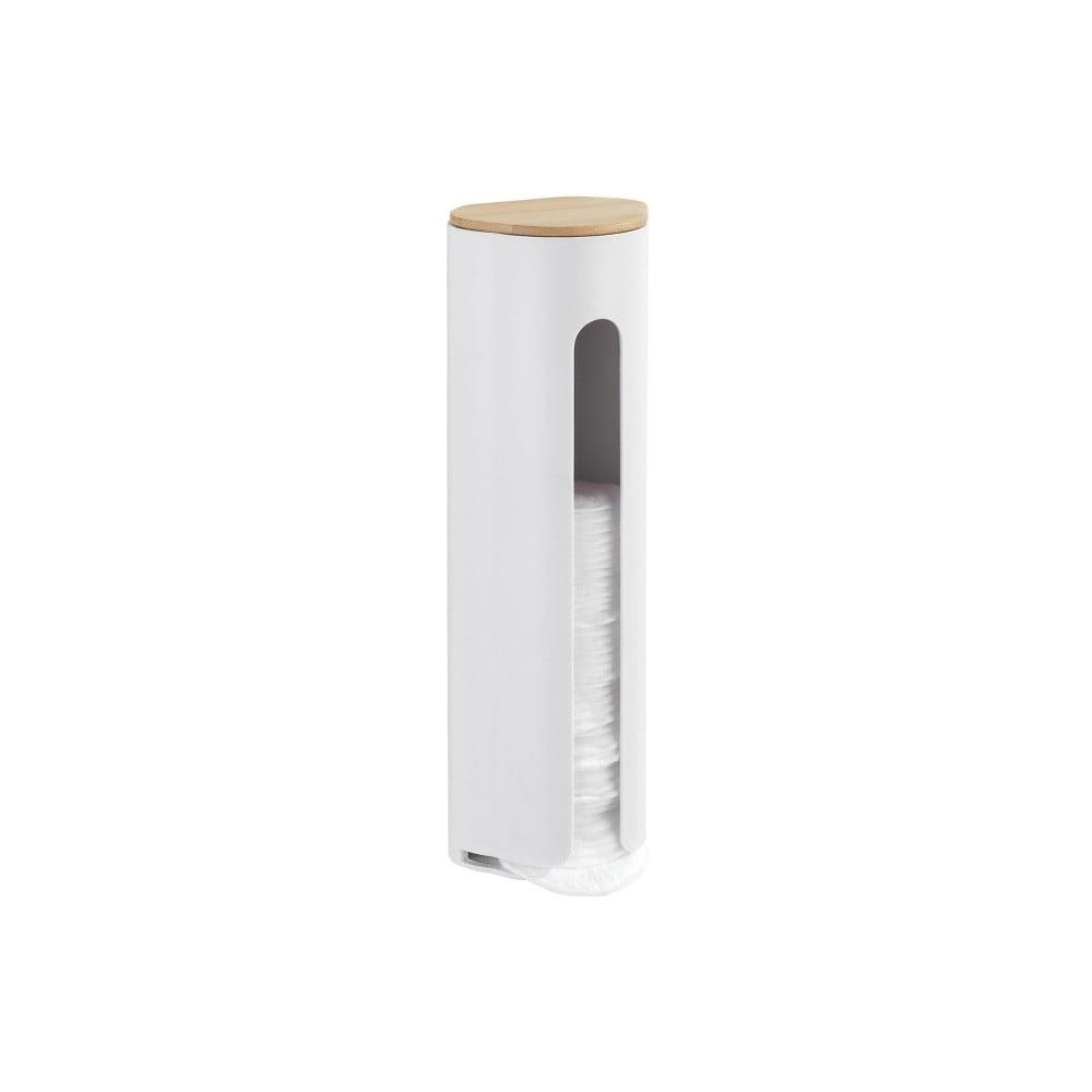 Produktové foto Bílý nástěnný zásobník na čistící tampony Wenko Laresa