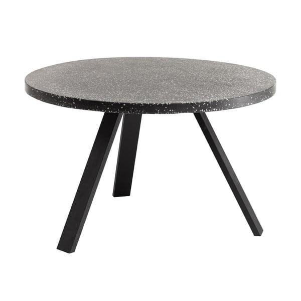 Shanelle fekete étkezőasztal, ⌀ 120 cm - La Forma