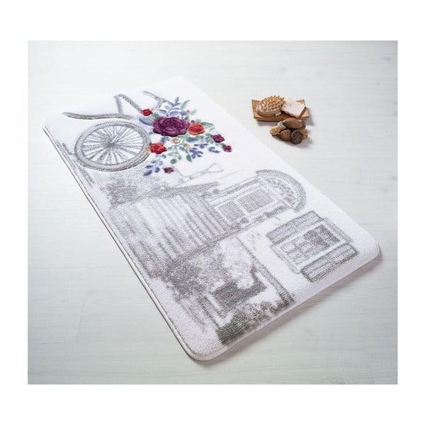 Šedá předložka do koupelny Confetti Bathmats Rose Basket, 80 x 140 cm