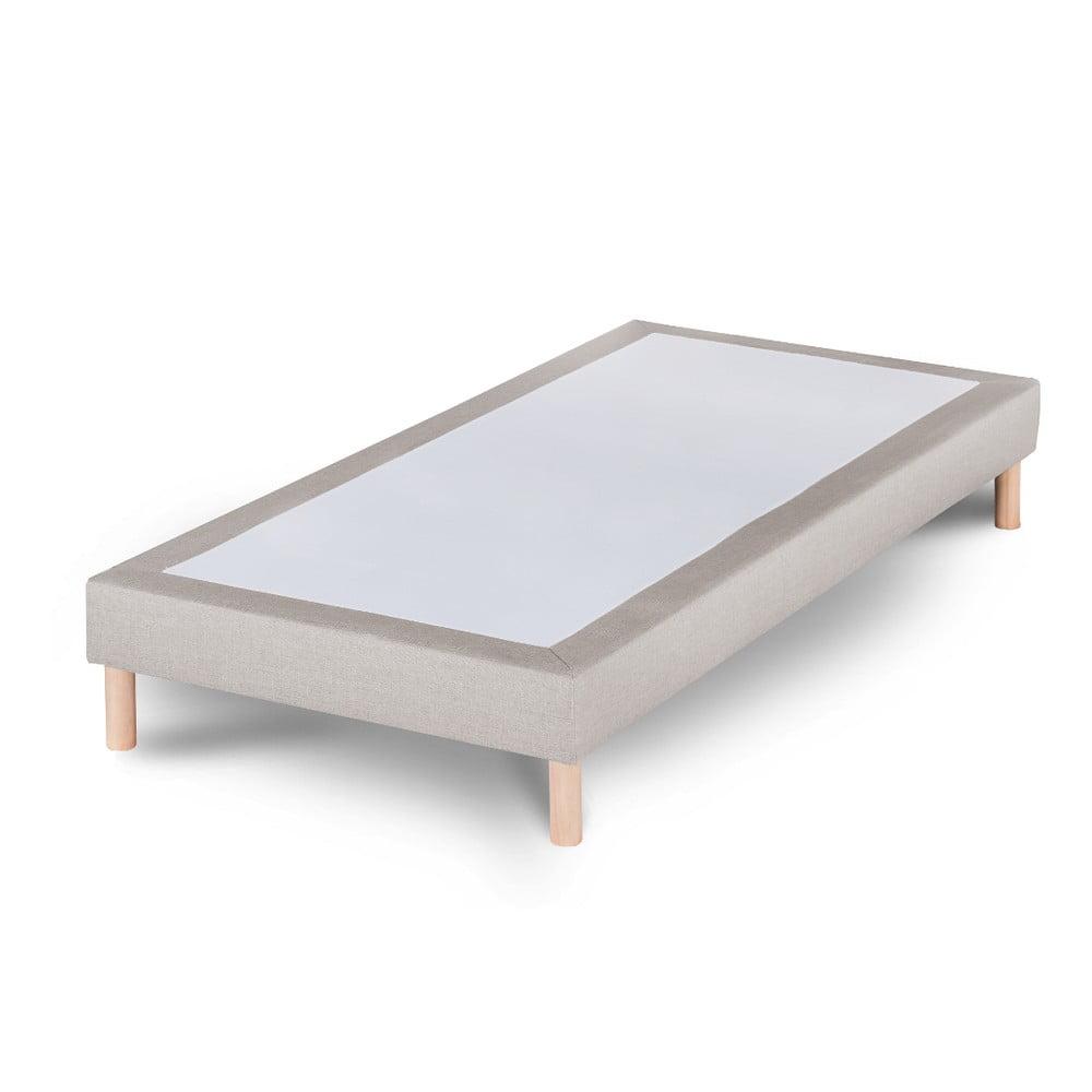 Světle šedá postel Stella Cadente Sommier, 90 x 200 cm