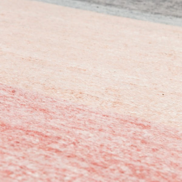 Vlněný koberec Pulvis Pink, 80x250 cm