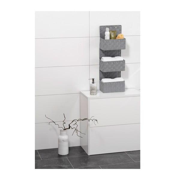 Šedý trojitý koupelnový organizér Wenko Adria