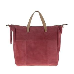 Růžová kožená kabelka Pitti Bags Judy