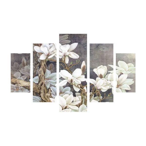 Tablou din mai multe piese White Blossom, 92 x 56 cm