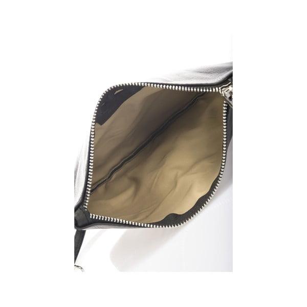 Kožená kabelka Krole Kody, černá