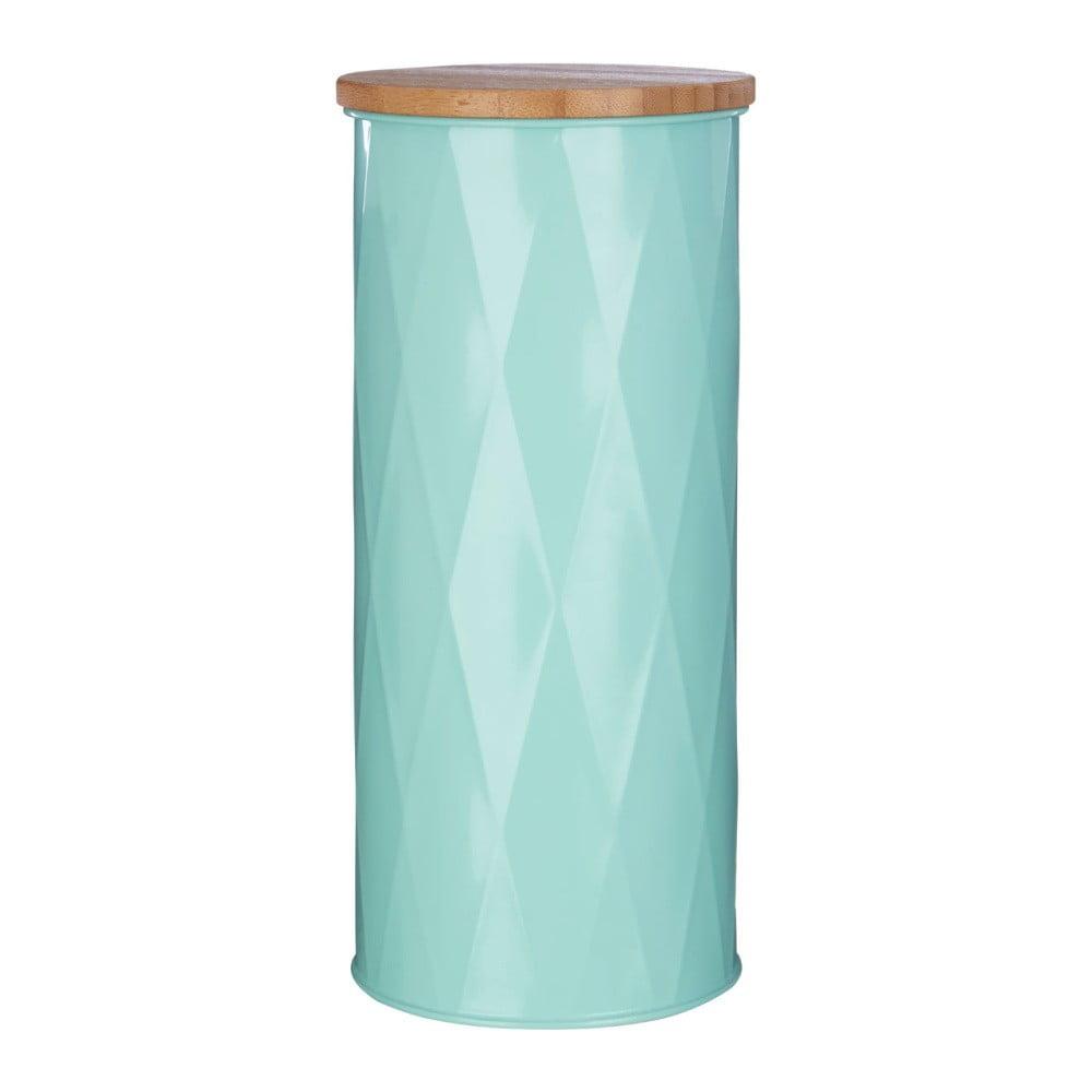 Velká tyrkysová dóza s bambusovým víčkem Premier Housewares Canister