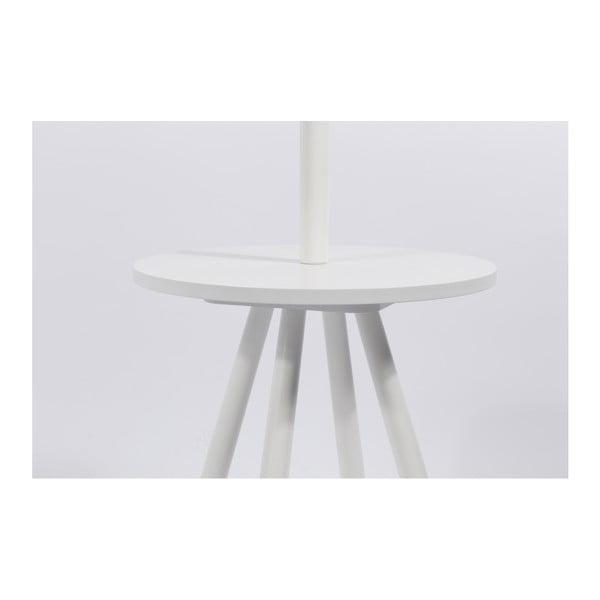 Bílý věšák s odkládacím prostorem Zuiver Table Tree