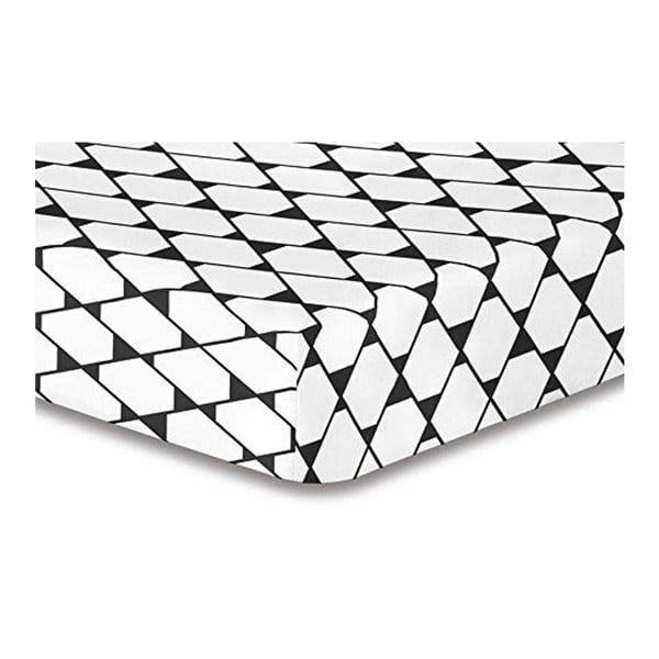 Elastické prostěradlo z mikrovlákna DecoKing Rhombuses, 100x200cm