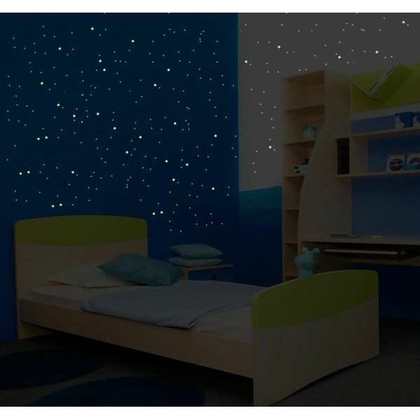 Komplet 240 świecących w ciemności naklejek Ambiance Milky Way, 240 szt.