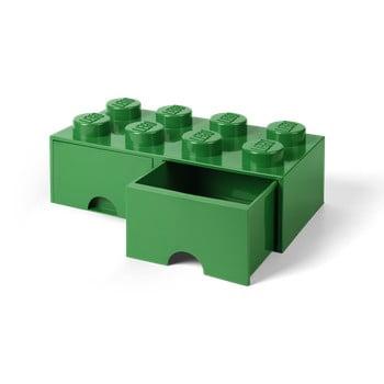 Cutie depozitare cu 2 compartimente LEGO®, verde de la LEGO®