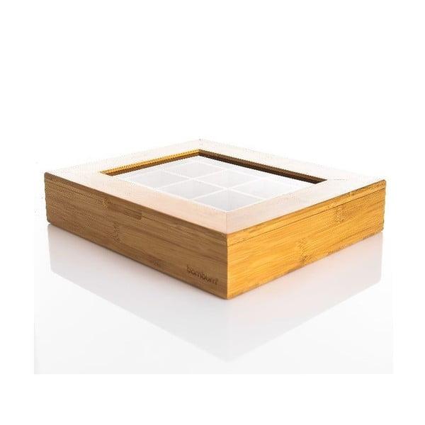 Bambusový box na čaj Clemer
