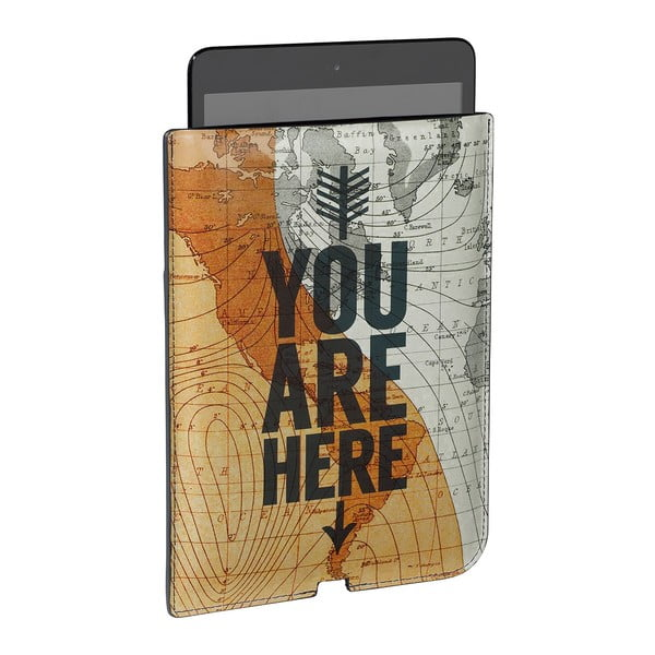 Obal na mini tablet Cartography You Are Here