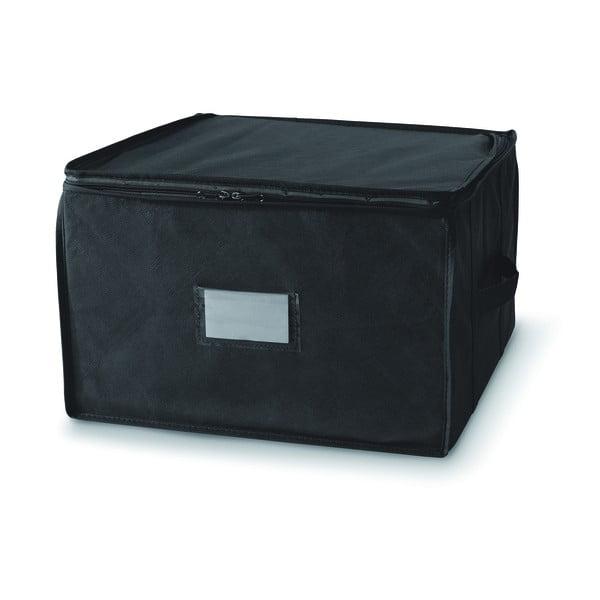 Czarny pojemnik z zapięciem na suwak Compactor Compress Pack, 125 l