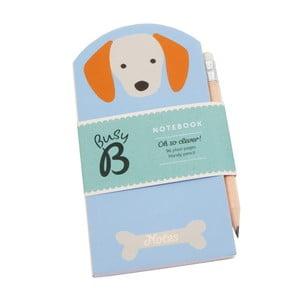 Mini agendă Busy B Dog cu stilou