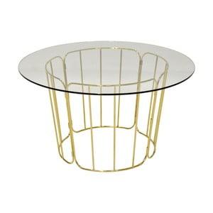 Jídelní stůl s nohama ve zlaté barvě RGE Carrie, ⌀ 85 cm
