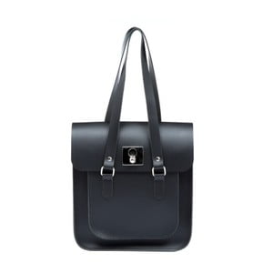 Černo-modrá kožená kabelka Brix + Bailey Rosemont