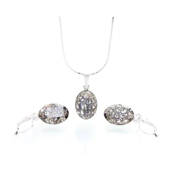 Set náhrdelníku a náušnic se Swarovski krystaly Yasmine Oval