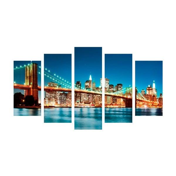5dílný obraz Bridge Tales, 60x100 cm