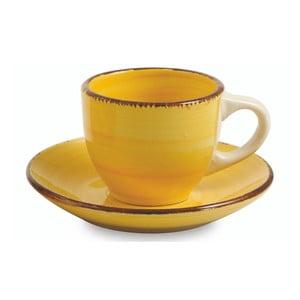Sada 6 žlutých šálků na espresso s podšálkem Villa d'Este Baita, 90ml