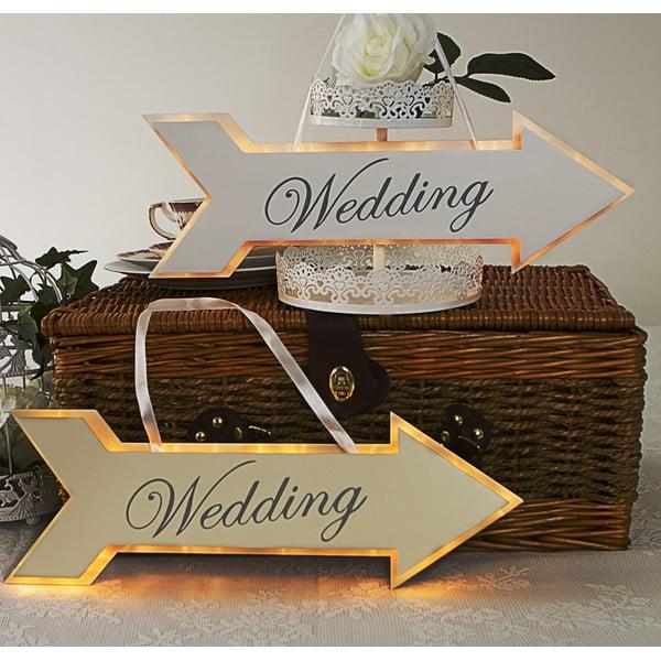 Svatební dekorace s LED světly Arrow