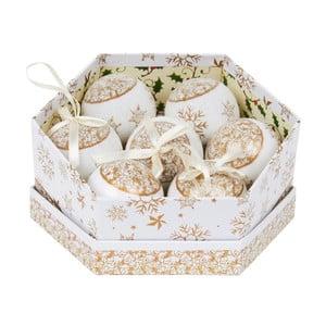 Sada 7 ozdob v krabičce Archipelago Gold Snowflake Baubles