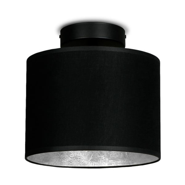 Czarna lampa sufitowa z detalem w srebrnym kolorze Sotto Luce MIKA Elementar XS CP