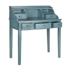 Modrý psací stůl Olivia Ocean