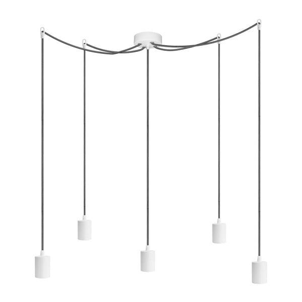 Pět závěsných kabelů Cero, bílá/černá/bílá