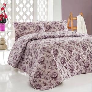 Sada prošívaného přehozu přes postel a dvou polštářů Double 436, 200x220 cm