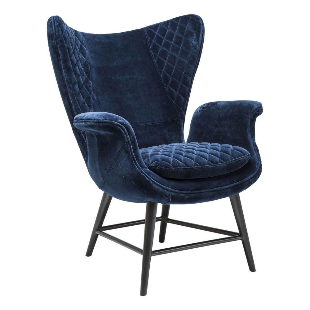 Modré křeslo Kare Design Velvet