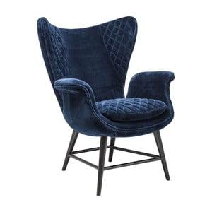 Fotoliu Kare Design Velvet, albastru
