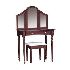Toaletní stolek s taburetkou Jette Brown