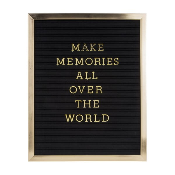 Fotorám se zlatým nápisem PT LIVING Quote, 40 x 50 cm